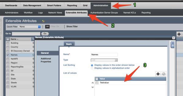 Log into your NIOS box and create an EA