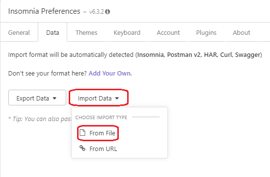 Select Import Data, followed by From File