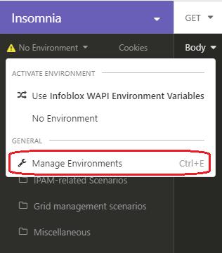 Manage Environments
