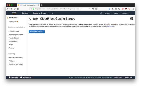 Create a CloudFront distribution