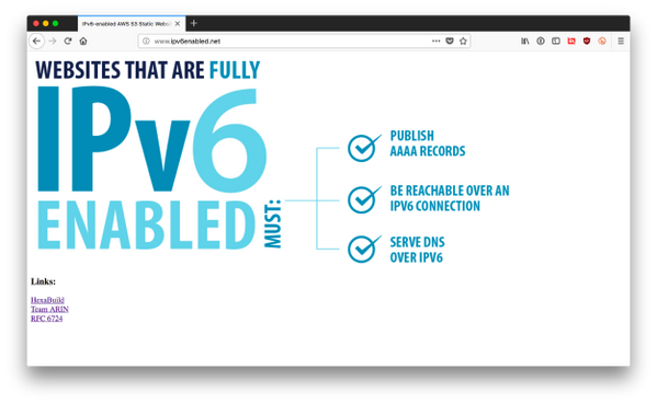 It's Alive (and reachable over IPv6)!