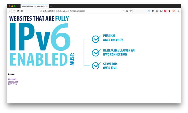 IPv4-only AWS website accomplished.