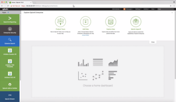 Splunk Dashboard with Tide/Dossier Integration
