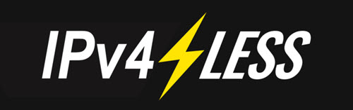 IPv4-less Logo